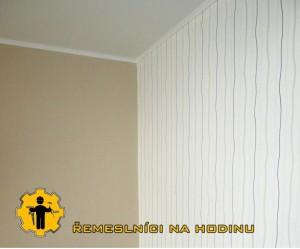 rekonstrukce stropu - tapetování