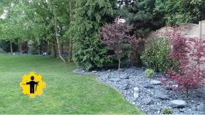 finální úprava zahrady